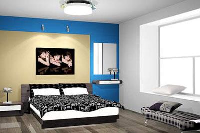 方位可可把脉卧室事业浅衣柜色男人图片