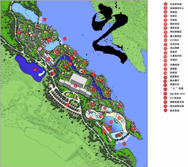 温泉湖国际度假旅游区规划图