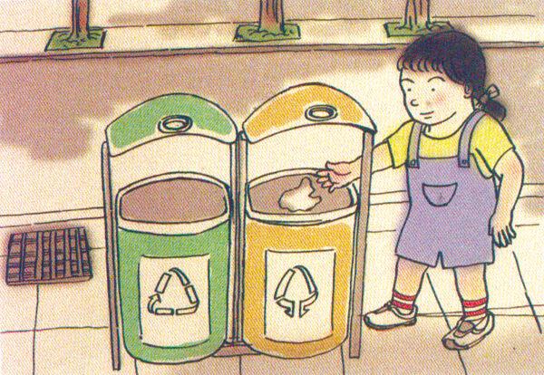 垃圾要按照规定进行分类并放到垃圾箱内.杜绝高空抛物.图片